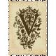 """Vintage- November Blogtrain Monogrammed """"V"""" Stamp"""