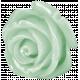 Vintage- November Blogtrain Teal Rose Button
