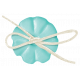 Simple Pleasures- Bluegreen Button With Bow