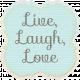 Simple Pleasures- Bluegreen Journal Tag