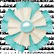 Simple Pleasures- Bluegreen & White Flower