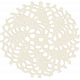 Simple Pleasures- White Crochet Piece