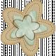 Sweet Valentine Elements- Blue & Tan Flower