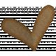 Sweet Valentine Elements- Brown Heart