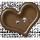 Sweet Valentine Elements- Brown Heart Button