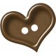 Sweet Valentine Elements- Brown Heart Button