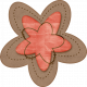 Sweet Valentine Elements- Pink Brown Flower