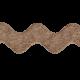 Sweet Valentine Elements- Brown Ricrac Ribbon
