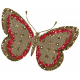 Sweet Valentine- Red Glitter Burlap Butterfly