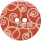 Sweet Valentine Elements- Red Swirly Button