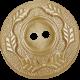 Sweet Valentine Elements- Leafy Tan Button