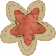 Sweet Valentine Elements- Tan & Red Flower
