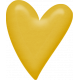 Sweet Valentine Elements Kit- Yellow Heart Brad