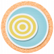 Lil Monster- Orange Blue & Yellow Circle Sticker