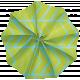Lil Monster- Blue & Green Accordian Paper Flower