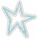 Lil Monster Blue Star Outline Sticker
