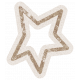Lil Monster Brown Star Outline Sticker
