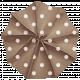 Lil Monster- Brown Polkadot Accordian Paper Flower