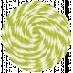 Lil Monster- Green Pinwheel String