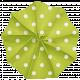 Lil Monster- Green Polkadot Accordian Paper Flower