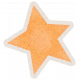 Lil Monster Orange Star Sticker