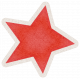 Lil Monster Red Star Sticker