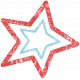 Lil Monster- Red & Blue Star Stamp