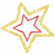 Lil Monster- Yellow & Red Star Stamp