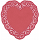 Be Mine Red Heart Doily