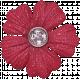 Be Mine Red Glittery Flower