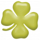 Oh Lucky Day- Light Green Clover Brad