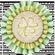 Oh Lucky Day- Light Teal & Green Burlap Flower