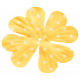 Oh Lucky Day- Yellow Polkadot Flower