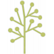 Green Tree Shape Sticker