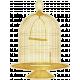 Enchanted- Birdcage Sticker