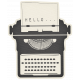 Hello- Paper Typewriter