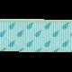 Rain, Rain- Blue Raindrops Ribbon