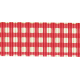 Rain, Rain- Red Gingham Ribbon