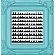 Rain, Rain- Dark Blue Ornate Frame