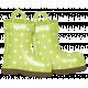 Rain, Rain- Green Polka Dot Rain Boots
