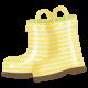 Rain, Rain- Striped Rain Boots