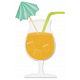 At The Beach- Orange Juice In A Glass