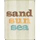 "At The Beach- ""Sand Sun Sea"" Journal Card"