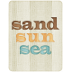 "At The Beach- ""Sand Sun Sea"" Journal Card"