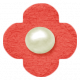 Oh Baby, Baby- Chipboard Flower- Red