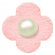 Oh Baby, Baby- Chipboard Flower- Pink