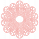 Oh Baby, Baby- Pink Crocheted Doily