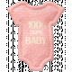 Oh Baby, Baby- Pink Felt Onsie