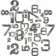 Space Explorer- Stamped Number Scramble- Black