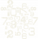 Space Explorer- Stamped Number Scramble- White